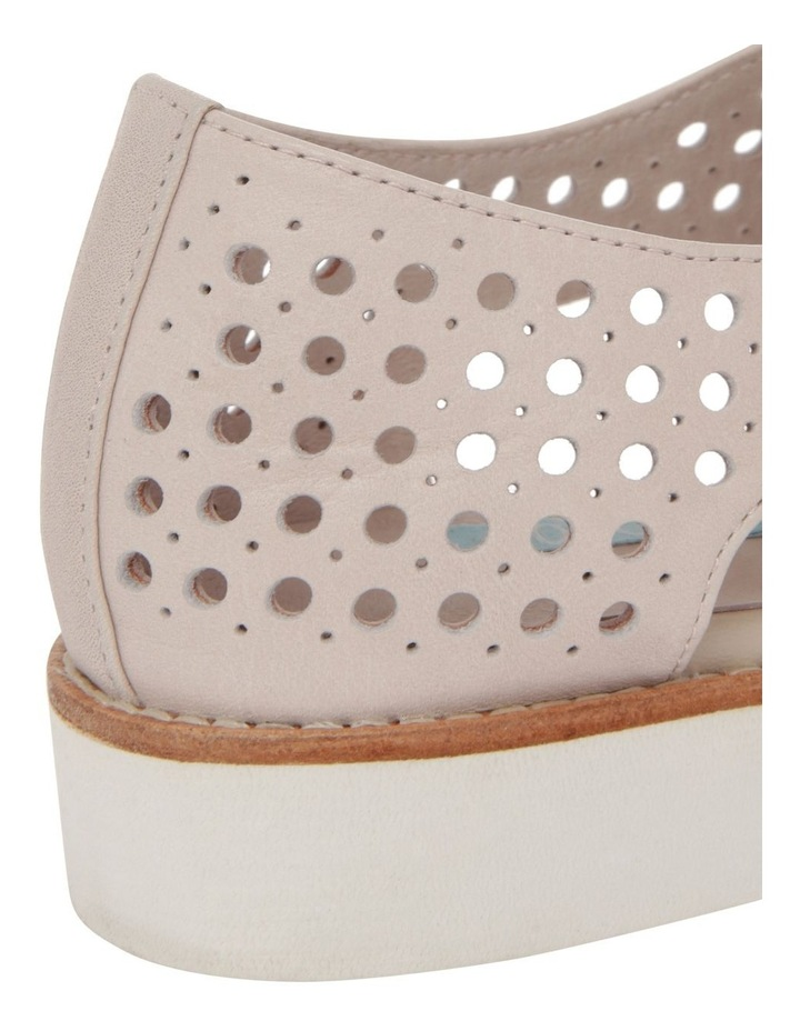 Molly Beige Leather Flat image 4