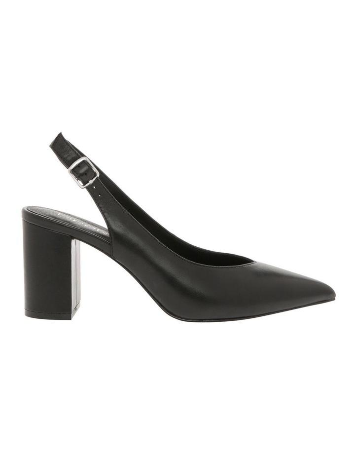 Ignite Black Leather Heel image 1