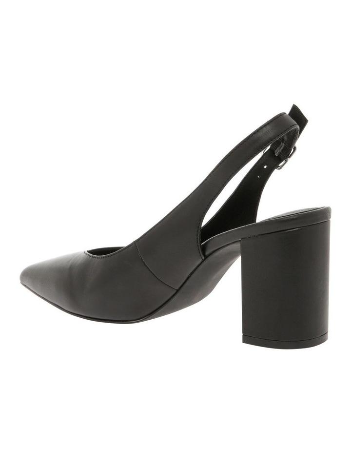 Ignite Black Leather Heel image 2