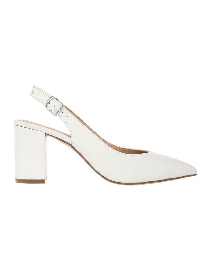 Ignite White Leather Heel image 1