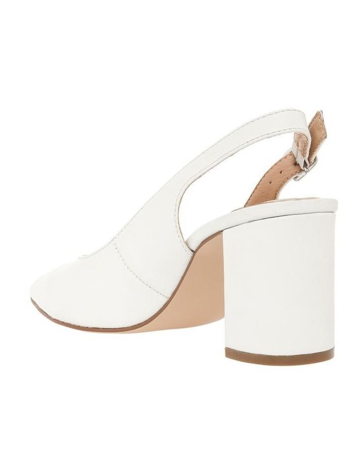 Ignite White Leather Heel image 2