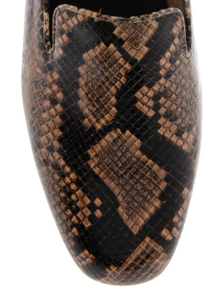 Nadia Snake Printed Kid Leather Flat image 3