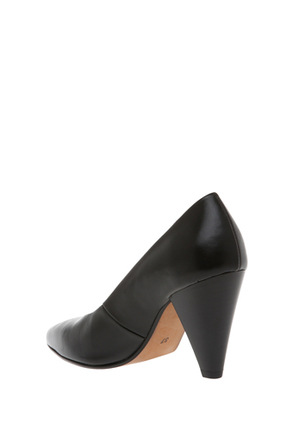 Piper - Eugenia Black Leather Pump