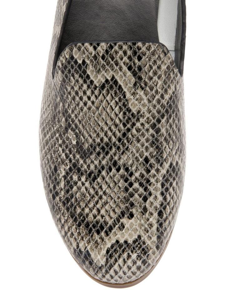 Alberta Snake Print Leather Flat image 3