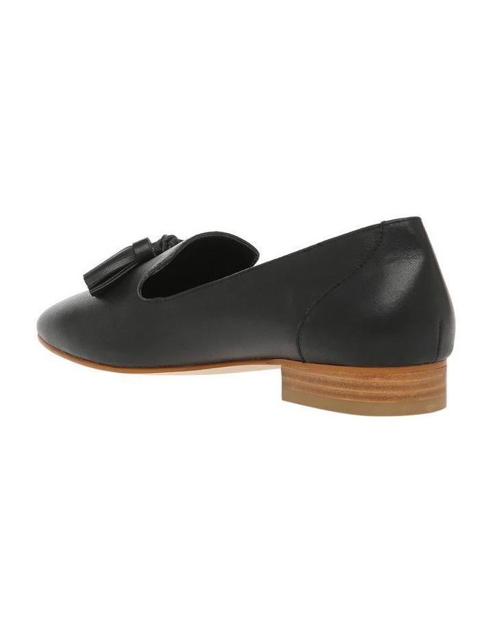 Jen Black Leather Flat image 2