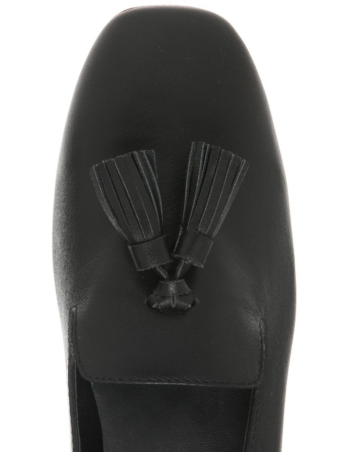 Jen Black Leather Flat image 3