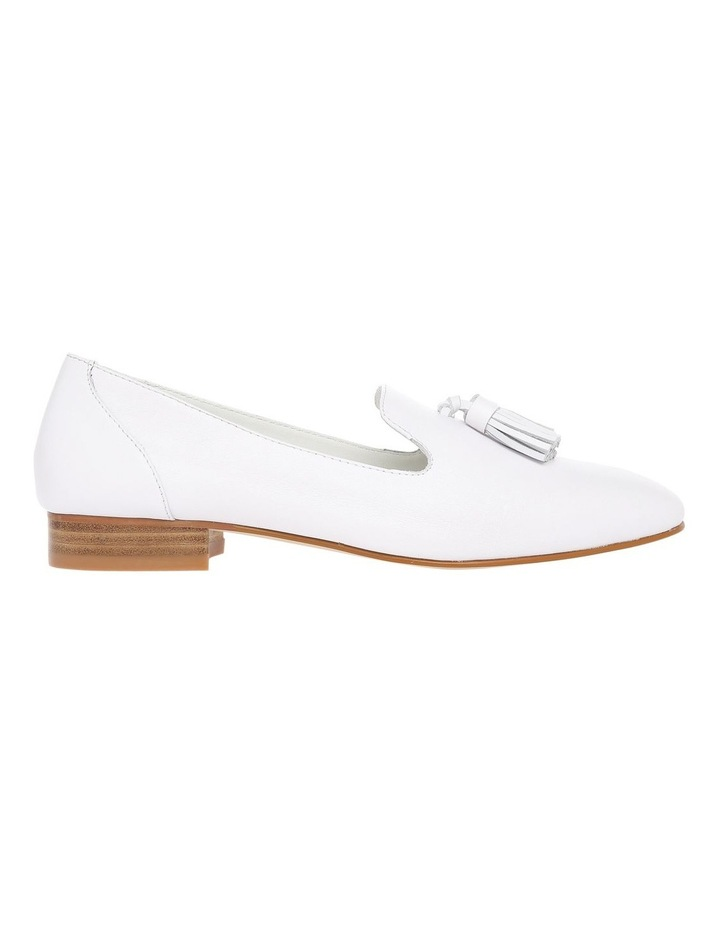 Jen White Leather Flat image 1