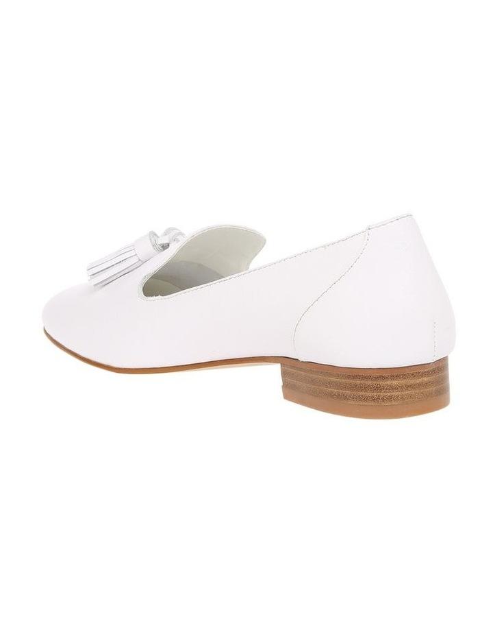 Jen White Leather Flat image 2