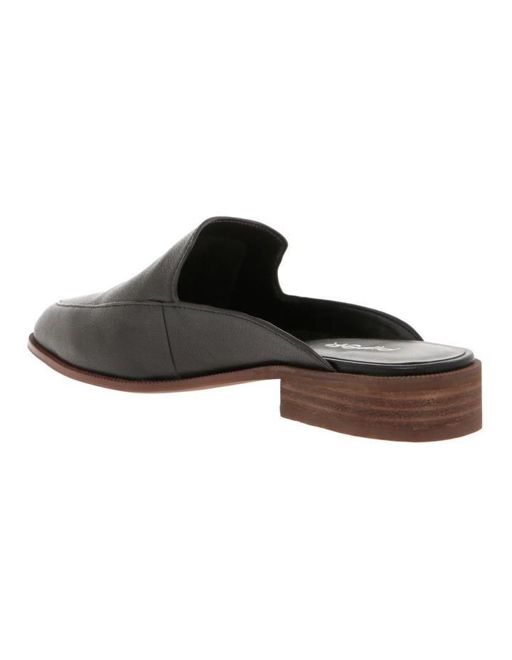 Union Black Leather Flat image 2