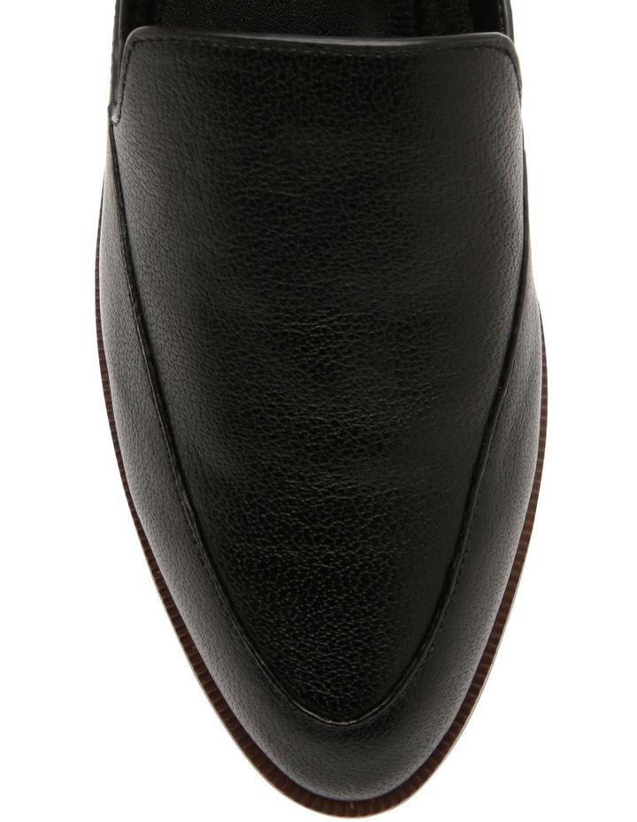 Union Black Leather Flat image 3