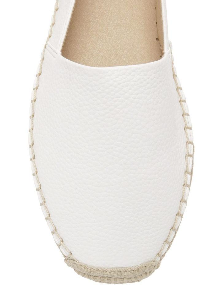 Caity White Flat Shoes image 2