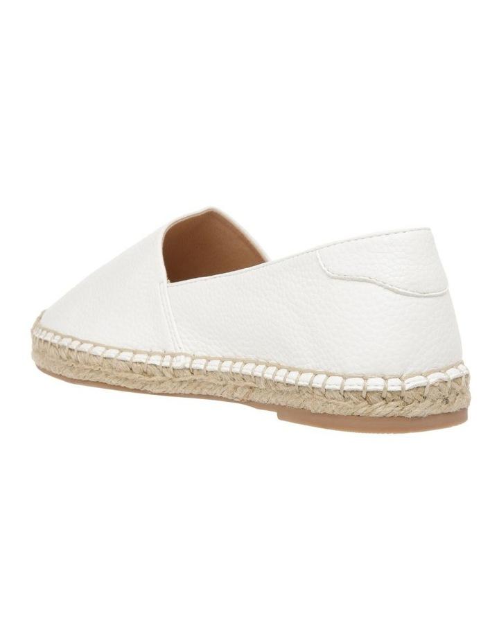 Caity White Flat Shoes image 3