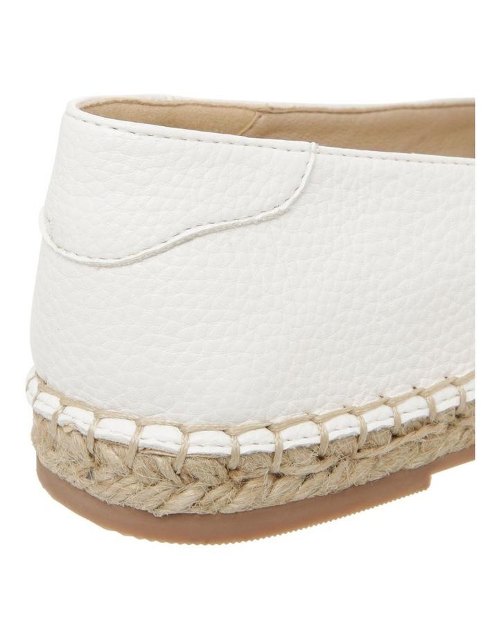 Caity White Flat Shoes image 4