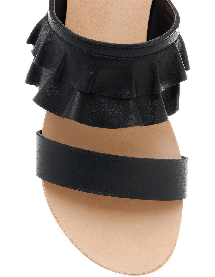 Ree Ree Black Leather Sandal image 3
