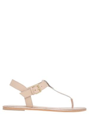 Piper - Paula Nude Leather Sandal