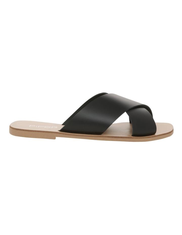 Jean Black Leather Slide image 1