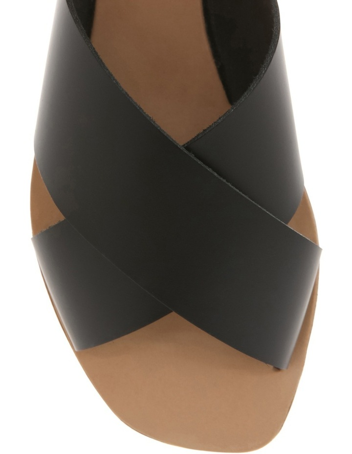 Jean Black Leather Slide image 3