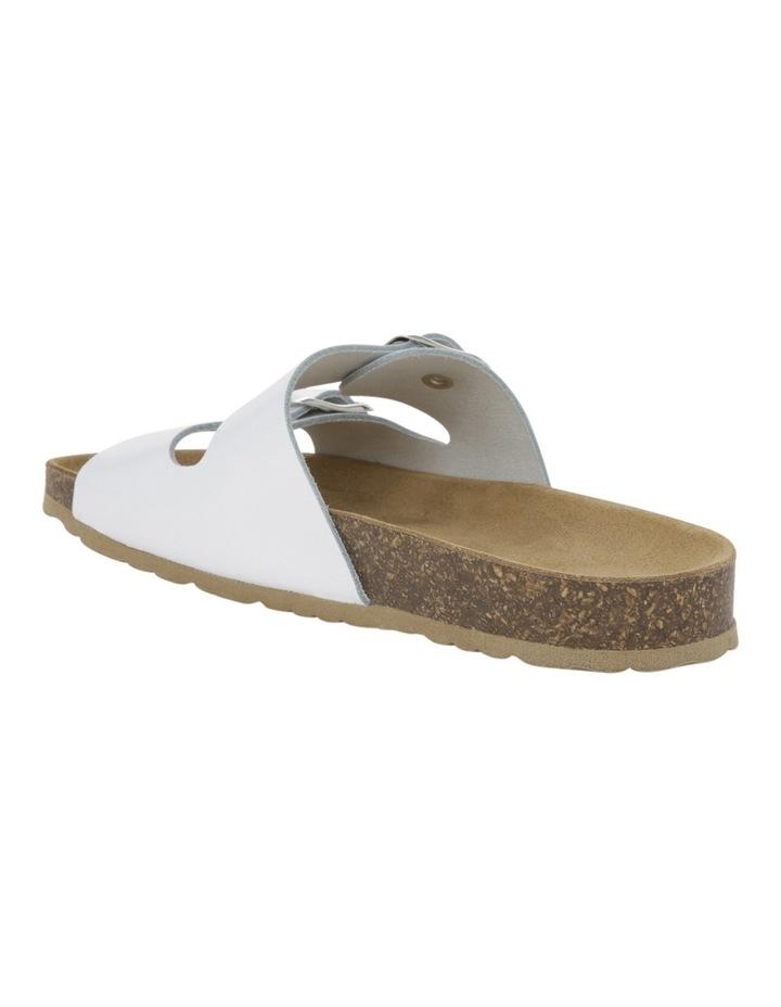 Jane White Leather Slide image 2