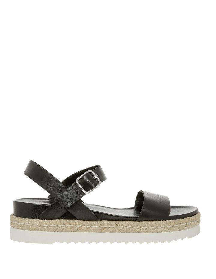 Frankie Black Leather Sandal image 1