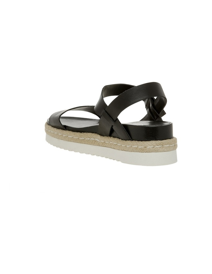Frankie Black Leather Sandal image 2