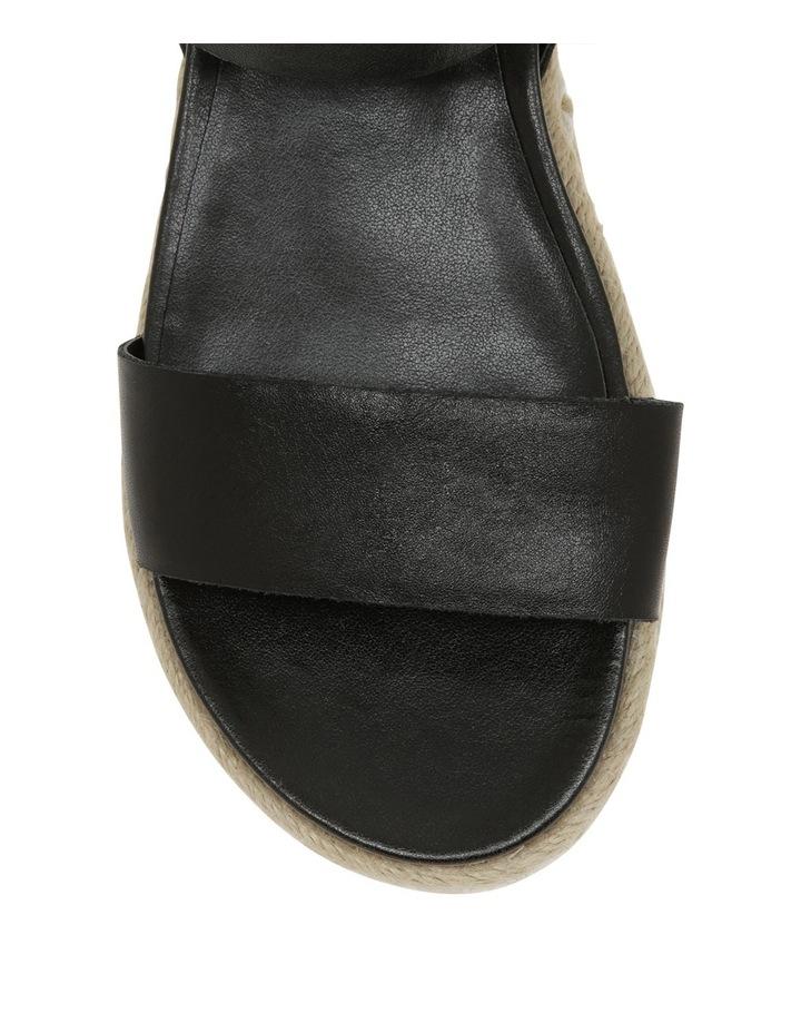 Frankie Black Leather Sandal image 3