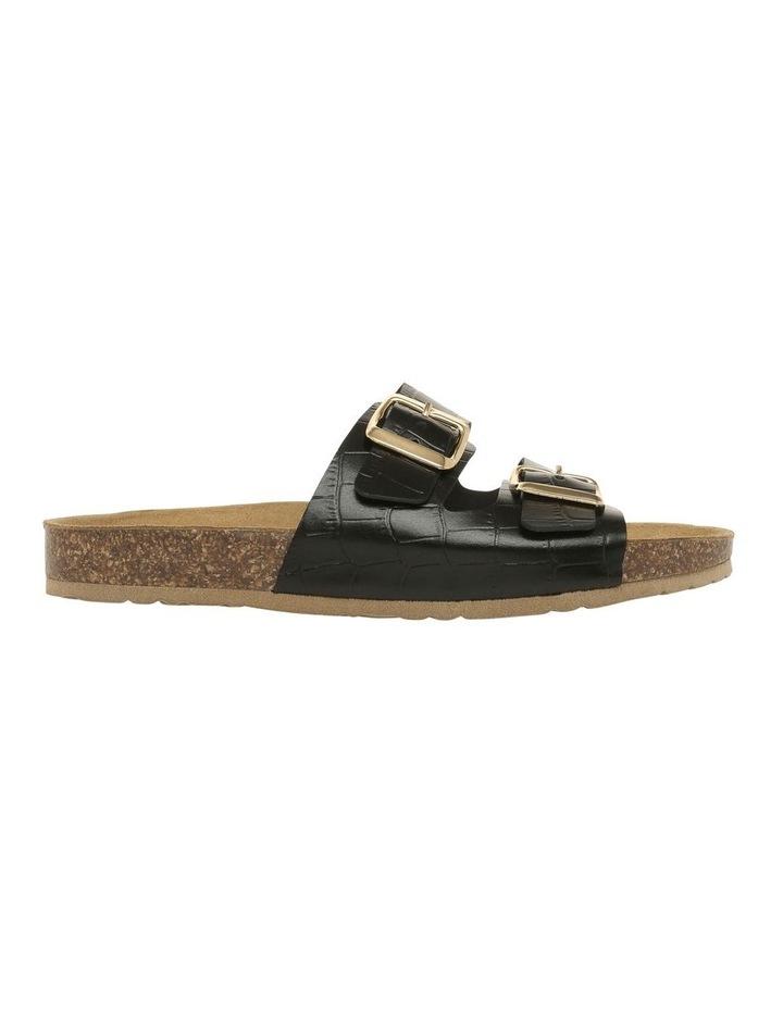 Janis Black Leather Slide image 1
