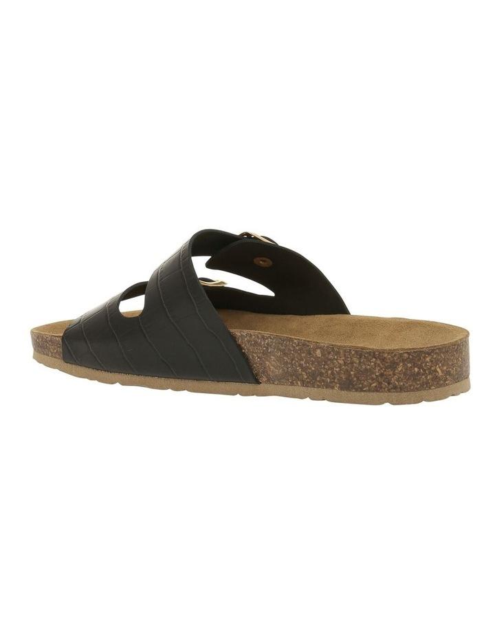 Janis Black Leather Slide image 2