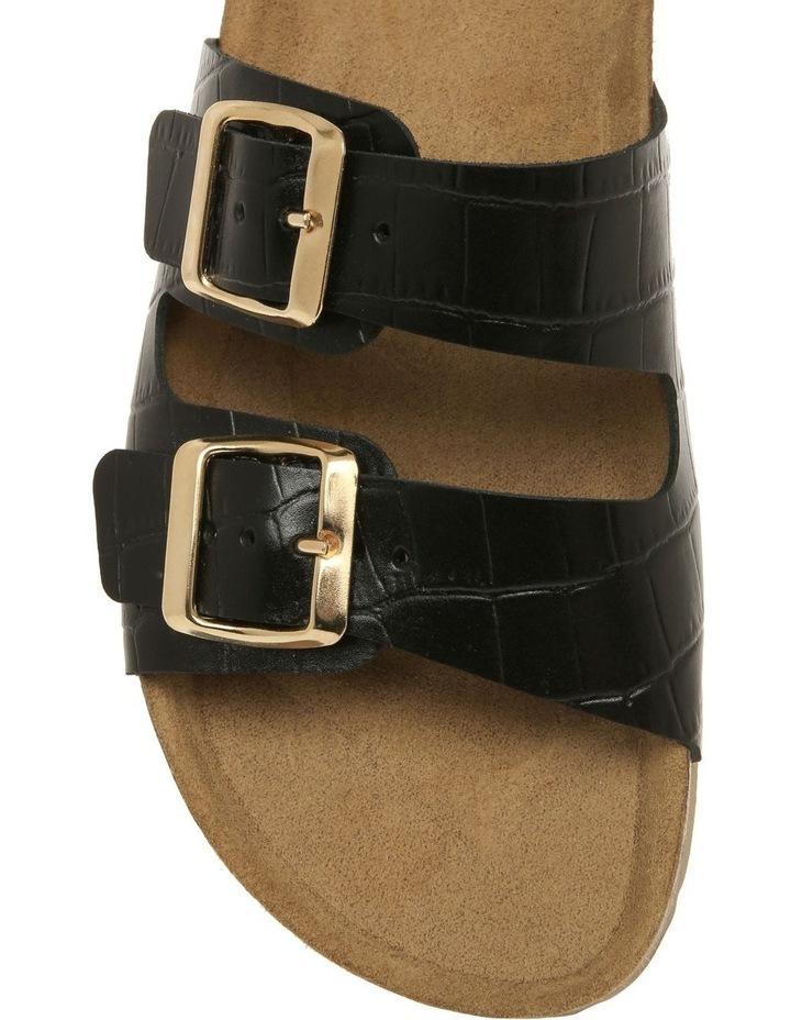 Janis Black Leather Slide image 3