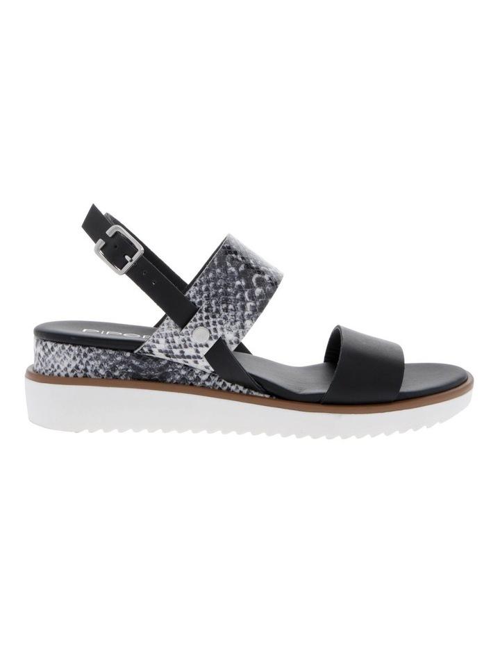 Olivia Black Leather Sandal image 1