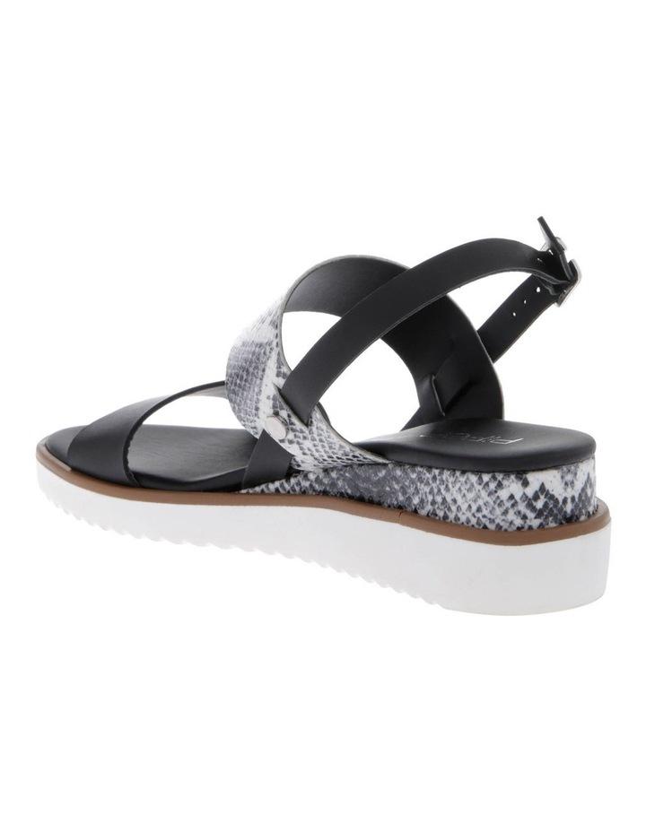 Olivia Black Leather Sandal image 2