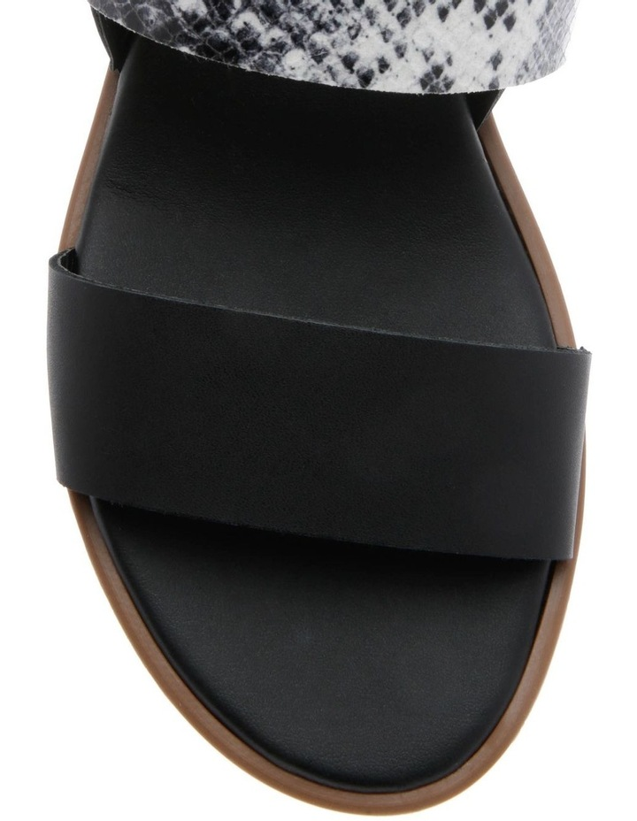 Olivia Black Leather Sandal image 3