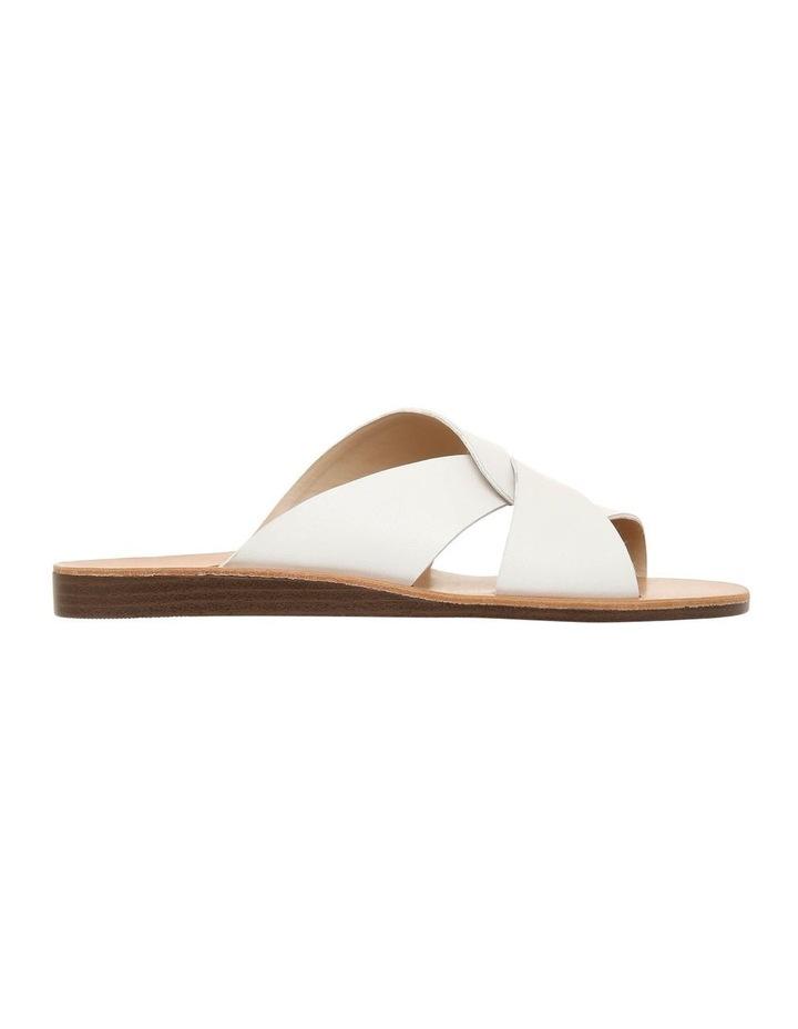 Mali White Leather Sandal image 1