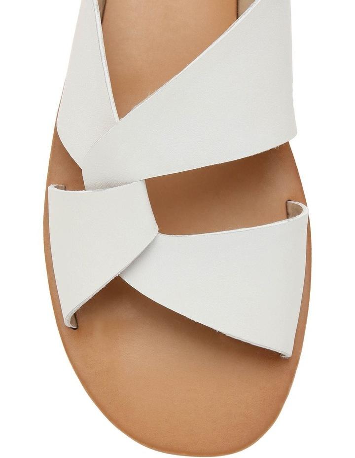 Mali White Leather Sandal image 3