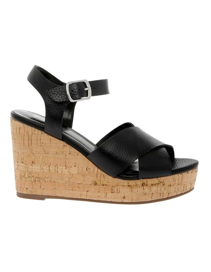 Tobago Black Leather Sandal image 1