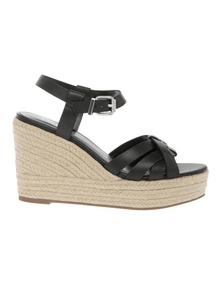 Dominica Black Leather Sandal image 1
