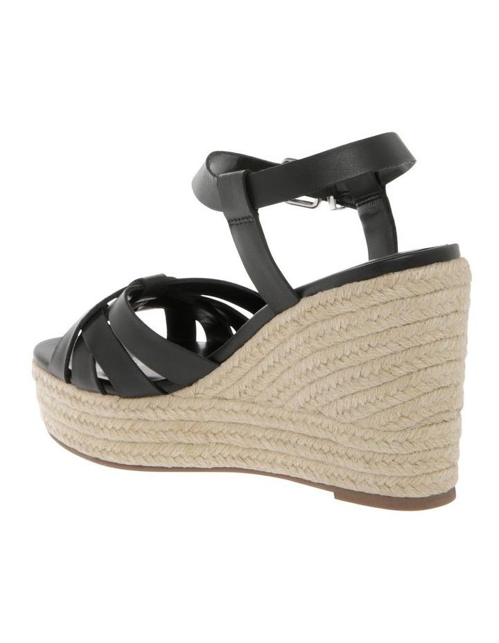 Dominica Black Leather Sandal image 2