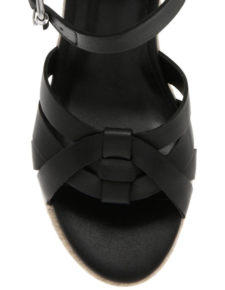 Dominica Black Leather Sandal image 3