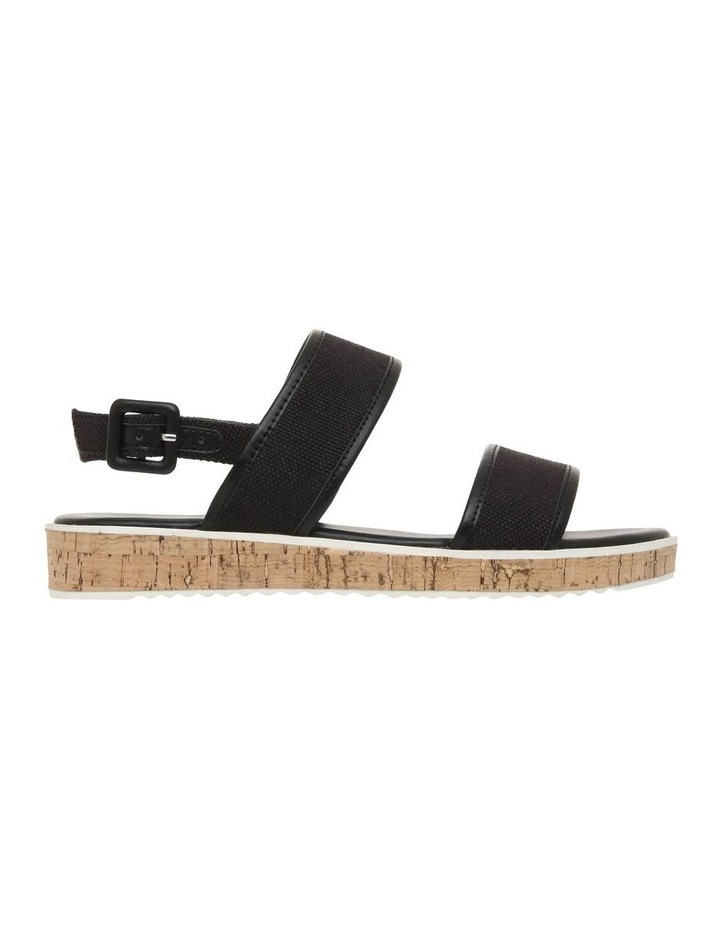 Oahu Black Linen Sandal image 1