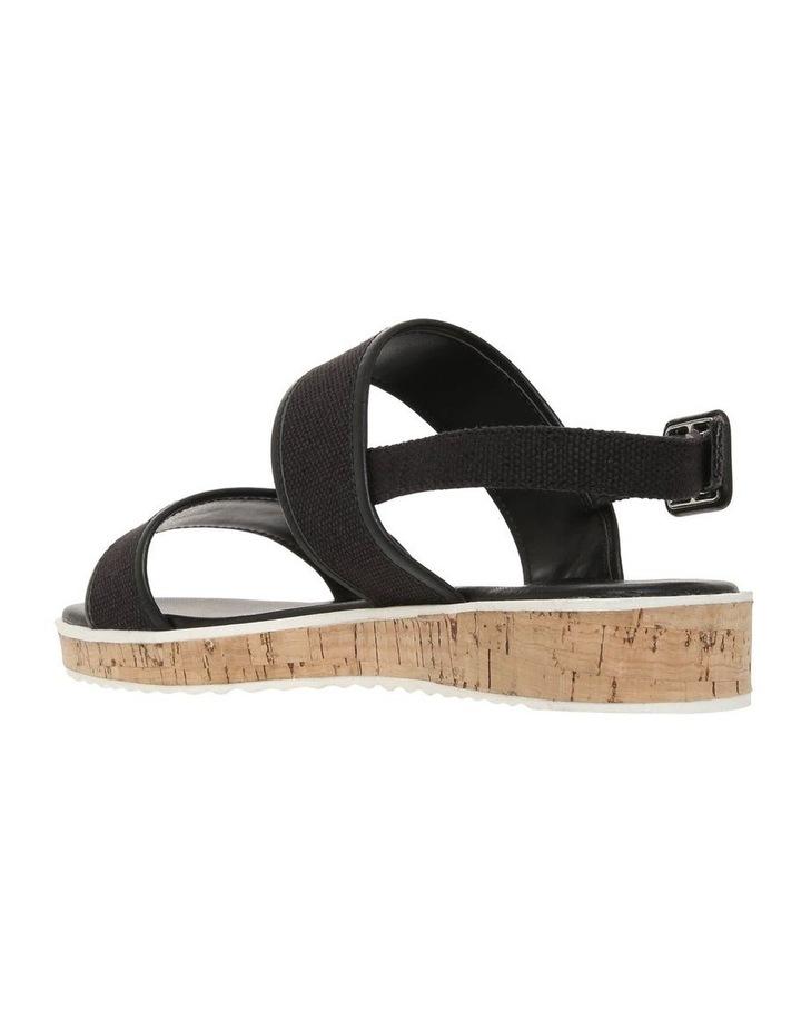 Oahu Black Linen Sandal image 2