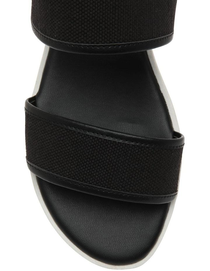 Oahu Black Linen Sandal image 3
