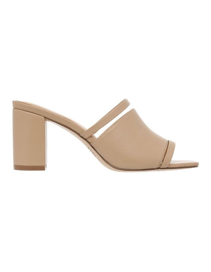 Zoya Nude Leather Block Heel Sandal image 1