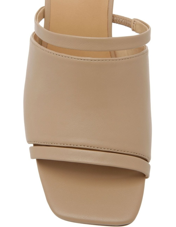 Zoya Nude Leather Block Heel Sandal image 2