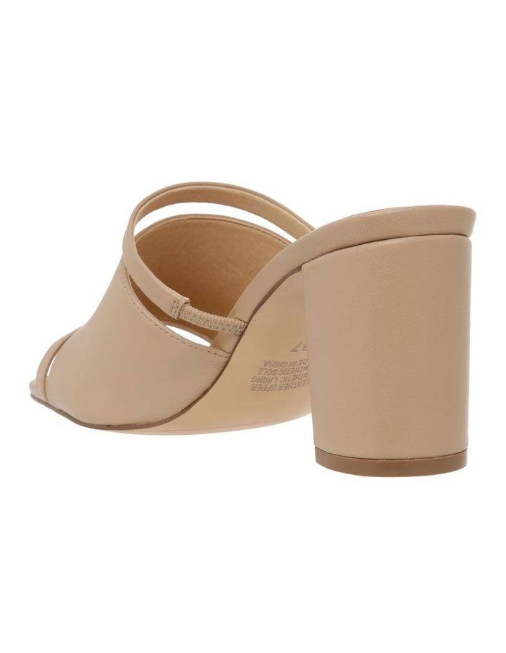 Zoya Nude Leather Block Heel Sandal image 3
