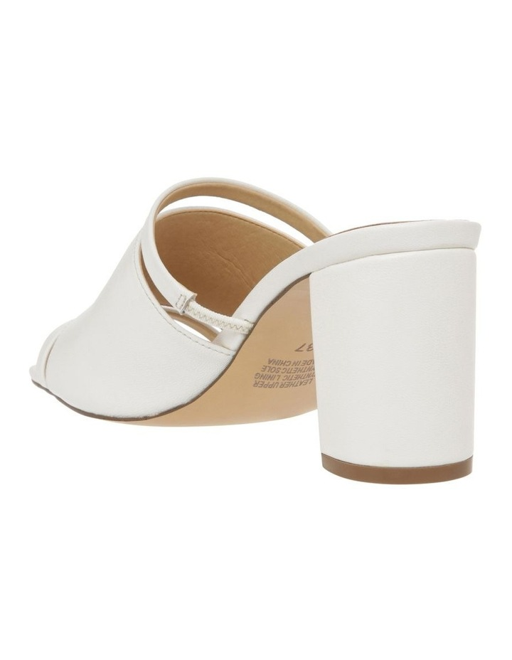 Zoya White Leather Block Heel Sandal image 3