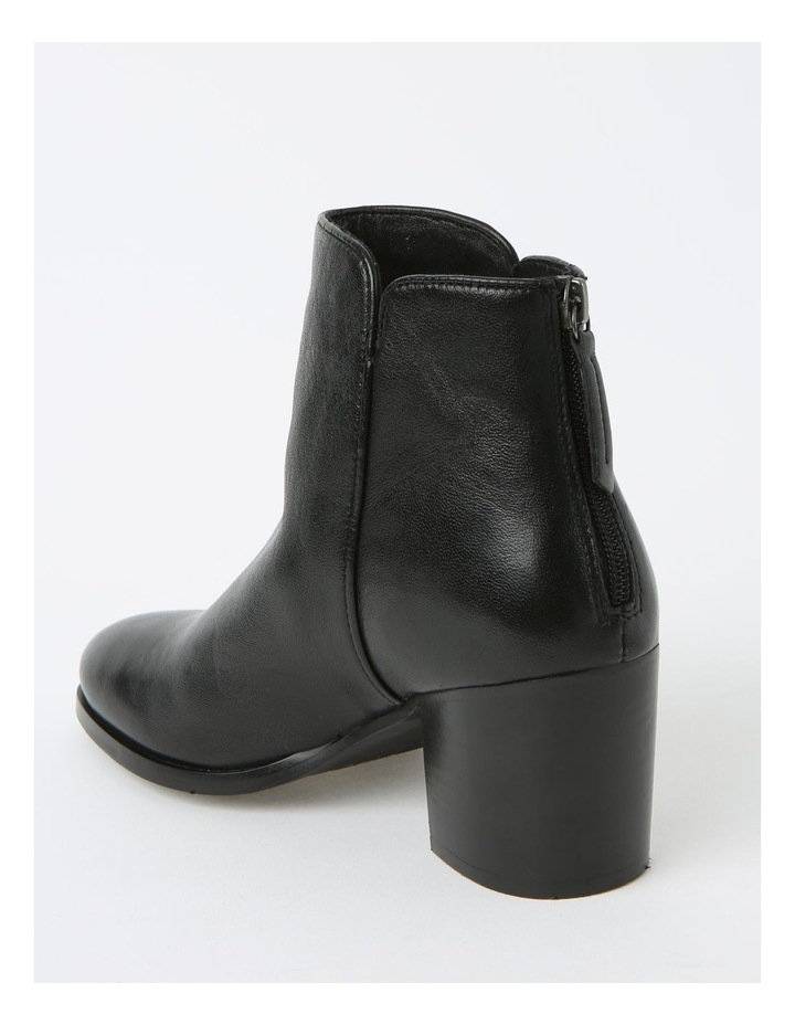 Addison Black Heeled Ankle Boot image 3