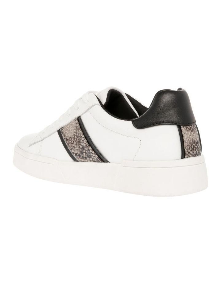 Lex White Leather & Snake Sneaker image 2