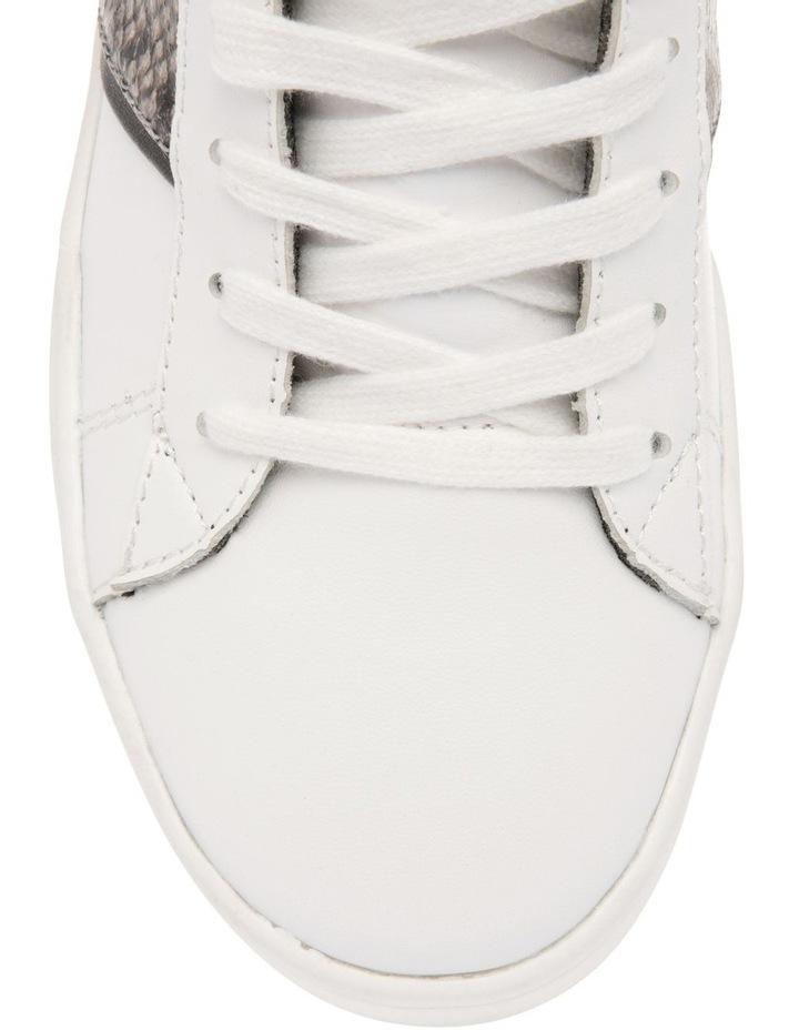 Lex White Leather & Snake Sneaker image 3