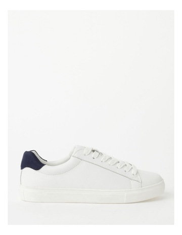 White With Navy colour