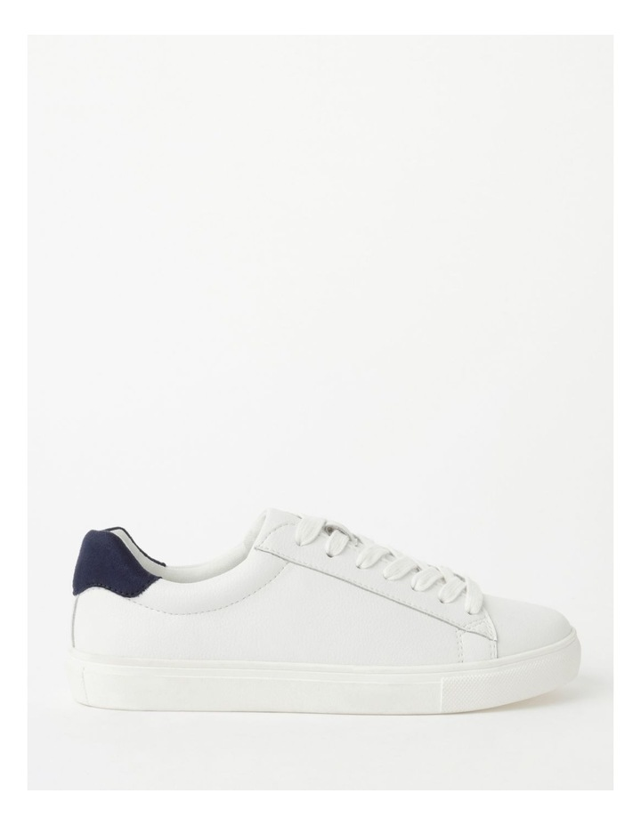 Billie White With Navy Sneaker image 1