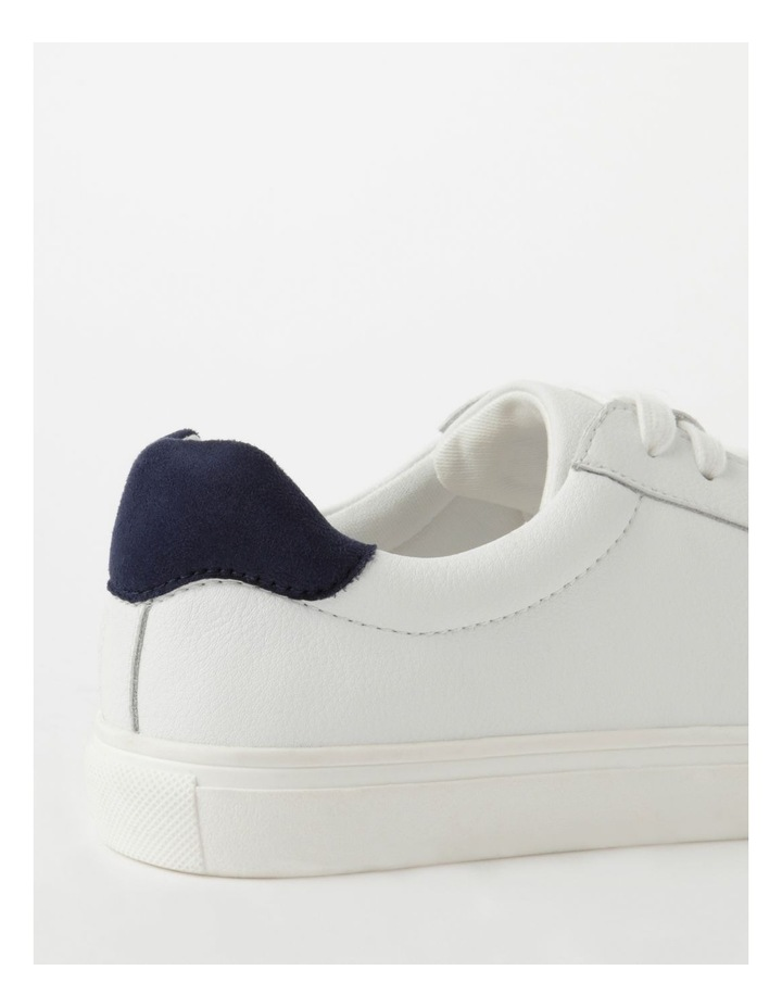 Billie White With Navy Sneaker image 5